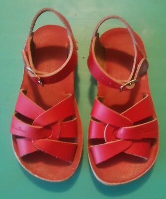 Saltwater sandals red kids UK size 10 US size 11