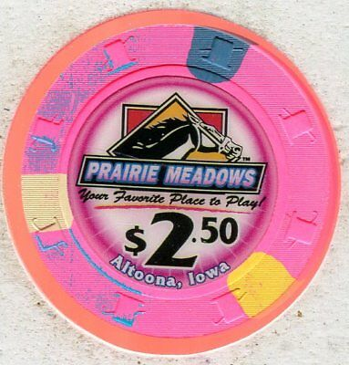 Prairie Meadows $2.50 Altoona IA  CG15018  Additional chips ship for 25c