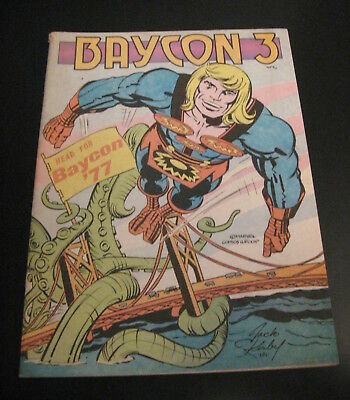 Baycon 3 1977 Comic Convention/Comicon Program, Cool Program Art/Articles! RARE!