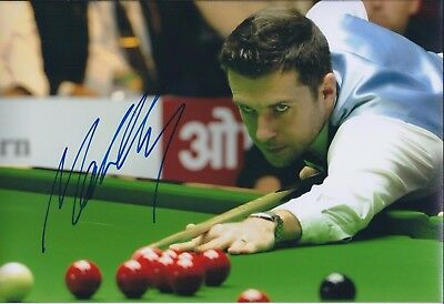 Mark SELBY SIGNED Photo Autograph COA AFTAL UK Leicester Snooker Player Genuine