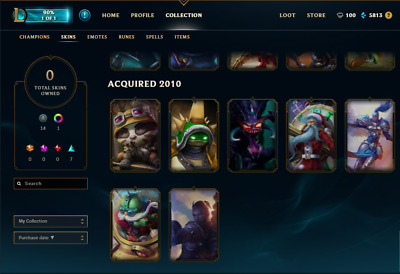League of legends Account : you/Human Ryze, silver kayle, ufo corki, king rammus