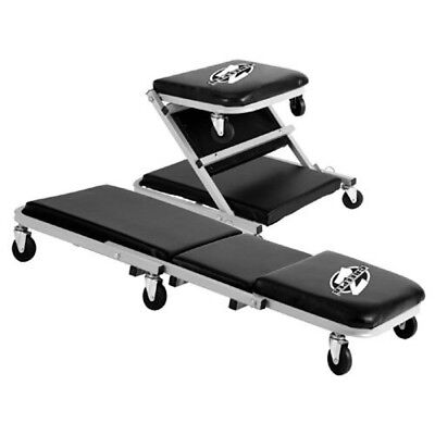 """Pro Lift Grey 36"""" Z-Creeper Seat Auto Mechanic Under Car Truck Roller Padded Bed"""