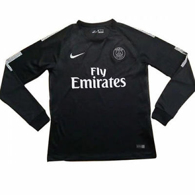 Paris Saint Germain Long Sleeve Away Jeresey MEDIUM BLACK BNWT