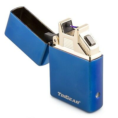 Atomic Electronic USB Elite Series Arc Plasma Lighter Recharge Windproof Blue