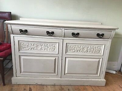 Painted Wooden Sideboard (Art Nouveau?)