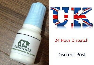 PET EYE DROPS - For Bacterial Eye Infection, Dogs, Cats, Horses All Animals