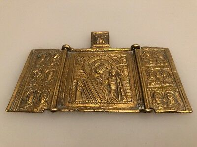 Icon Russian Antique Voyage 19TH CENTURY, Bronze