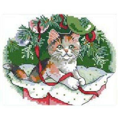 Printed Christmas cat cross stitch 11CT DIY needle wedding Christmas gift D Q9P4