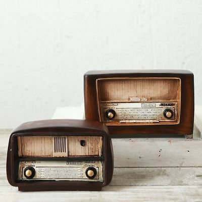 LOFT Style Resin  Radio Model Antique Imitation Nostalgia Wireless Ornaments