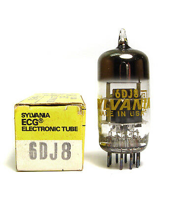 Sylvania 6DJ8 / ECC88 Röhre, Doppel-Triode, Audio Tube, Made in USA, NOS