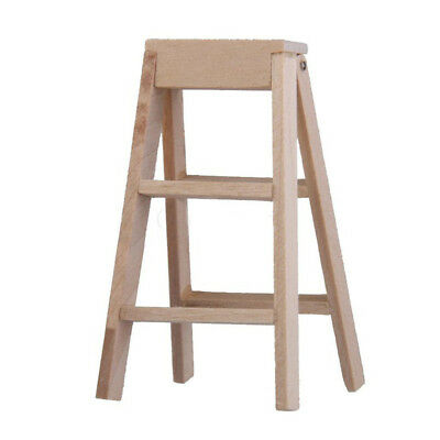 5X(1:12 Dollhouse Miniature Furniture Wooden Ladder A6E7 E0J7 D7P9
