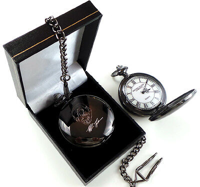 MIKE TYSON Signed POCKET WATCH Boxing Memorabilia Fight Fans Signature Gift