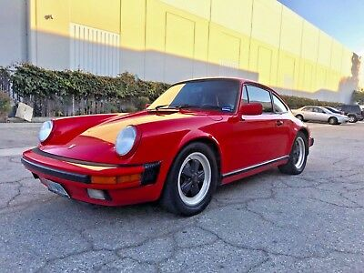 1987 Porsche 911 2 door 1987 Porsche 911 Carrera Coupe 3.2 Liter Matching Numbers