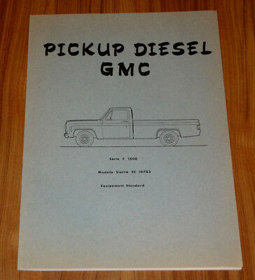 Catalogue GMC Pick-up Diesel C1500 de 1977