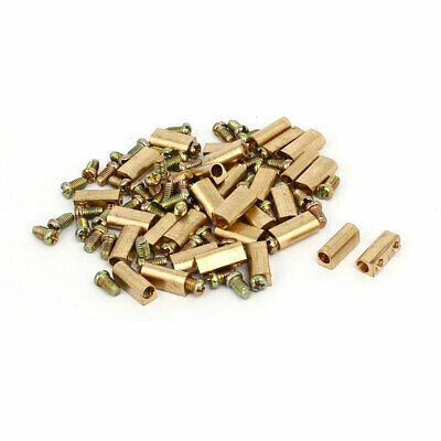3mm Dia Brass Terminal Blocks Neutral Links Electrical Wire Connectors 30pcs