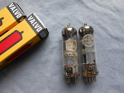 2 x   ECL 86  Valvo -- W 59  D Code  made in Germany