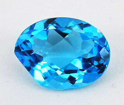 TOP TOPAZ : 18,91 Ct Swiss Blue Topas Designer Cut aus Brasilien