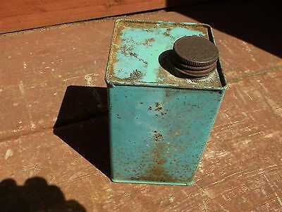 "Antique/Vintage Soldered Edge Tin Can 276 Gms 4""x4""x6 1/2"" DFL Ltd London N 16"