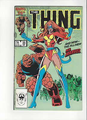 The Thing #35 Marvel 1986 1st App. New Ms. Marvel Comic Book VF/NM 9.0