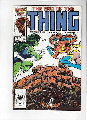 The Thing #36 Marvel 1986 2nd App. New Ms. Marvel Comic Book VF/NM 9.0