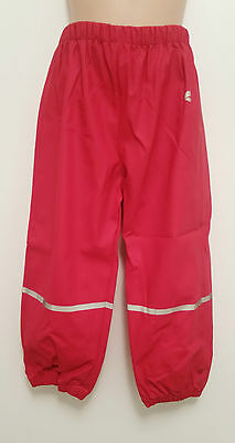 MUDDY PUDDLES red Puddleflex waterproof trousers 4-5 yrs rrp£18