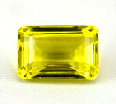 TOP LEMON CITRINE : 31,78 Ct Natürlicher Lemon Citrin aus Madagaskar