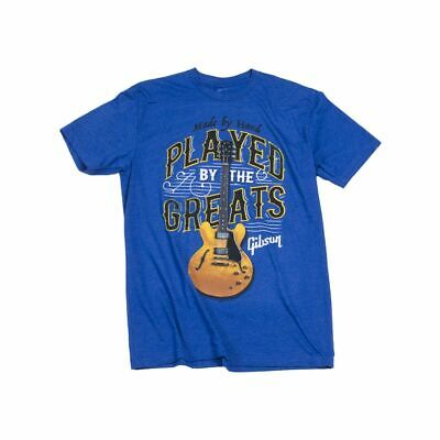 Gibson T-shirt Played By The Greats Royal Blue M