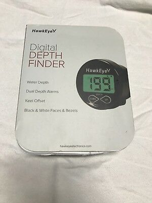 HawkEye Digital Depth Finder Sounder w Transducer NEW