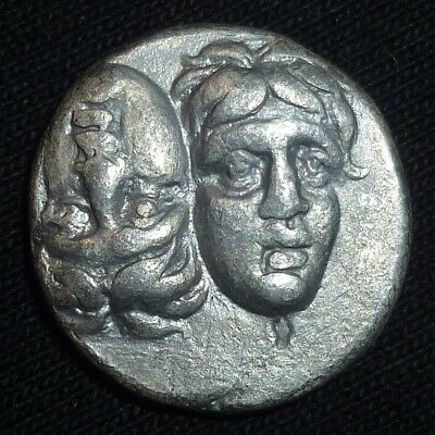 GREEK Ancient Coin - Moesia ISTROS - SILVER DRACHM -  Circa 400 BC         -5530