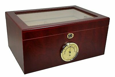 Kingpin 100 Cigar Desktop Humidor Glasstop