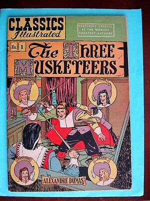 CLASSICS ILLUSTRATED The Three Musketeers HRN 36 (1947, Gilberton) FINE +