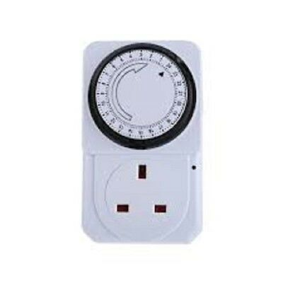 New Plug-in Timer  7day - Programmable 3 Pin UK Main Wall Home Plug Socket
