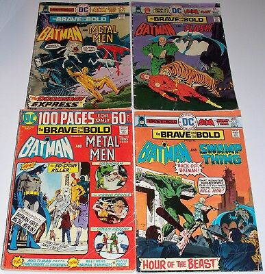The BRAVE and the BOLD no.'s 113, 121, 122, and 125. BATMAN, Metal Men, Flash+++