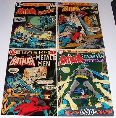 The BRAVE and the BOLD no.'s 89, 101, 103, and 110. BATMAN, Wildcat, Metamorpho+