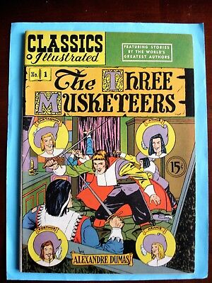 CLASSICS ILLUSTRATED The Three Musketeers HRN 78 (1950, Gilberton) VFNM
