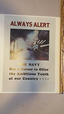 US Navy recruiting poster print ad.  circa 1960s