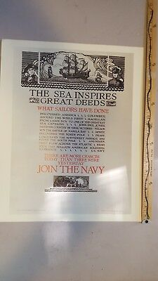US Navy recruiting poster.  1960s print ad.