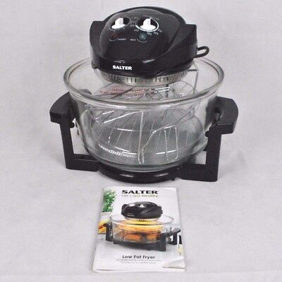Salter Low Fat Fryer Counter Top Halogen Convection Infrared Cooker Black VGC