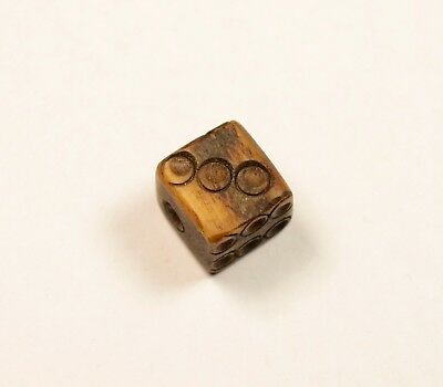Ancient Roman Bone Dice 1St-3Rd Century Ad - Very Hard To Find