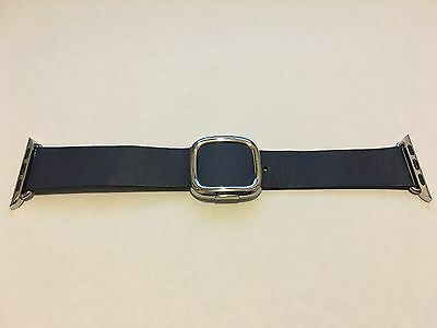 Genuine Apple  Watch Band -  38mm Midnight Blue Modern Buckle MEDIUM size