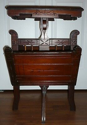 Antique 1880's Aesthetic Movement Eastlake Library Magazine Music Table