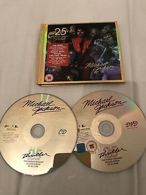 Michael Jackson Thriller 25th anniversary booklet limited edition CD + DVD