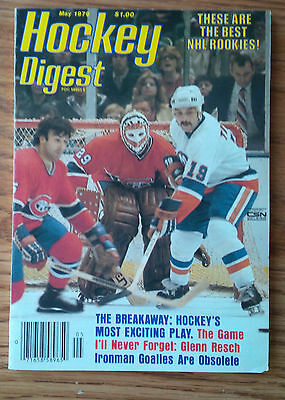 Hockey Digest May 79 Gump Worsley, Dave Keon, Tiger Williams, Chico Resch""