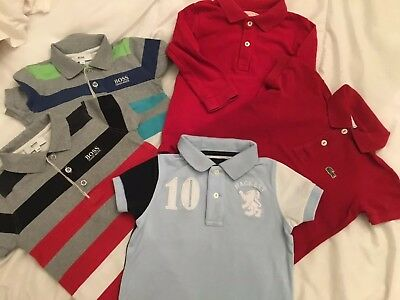 Bundle Of Boys Designer Clothes : Hugo Boss , Lacoste, Hackett . Size 2-3 Years