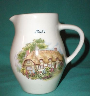 Vintage Brixham Pottery,Devon, jug/pitcher creamwhite/pottery /British