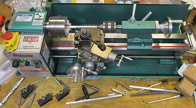 """G0765 Grizzly 7"""" X 14"""" Lathe (Used) + 0XA QCTP + lots of accessories!"""