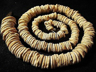 Graduated Strand Of Ancient Egypt Stone Disk Beads 3000 Yo.+