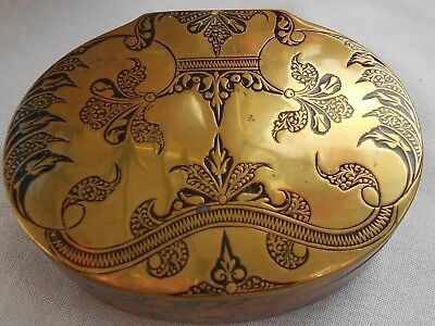 BEAUTIFUL VINTAGE BOX - brass and engraved. Beautiful!