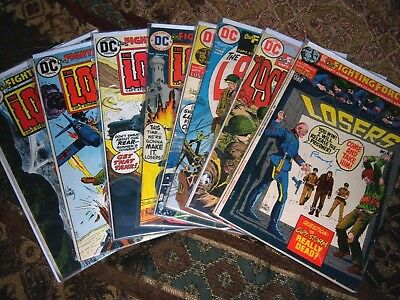 Lot Of 8  DC War  OUR FIGHTING FORCES #136-148 The Losers,
