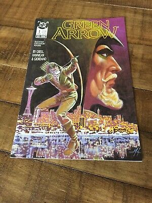 Green Arrow-#1-  COMIC BOOK 1988-mike grell-first issue-high quality condition